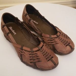 Sketchers Brown / Tan Woven Leather Sandals